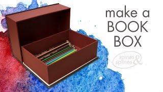 Make a storage box from a book!