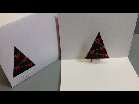 Christmas Origami Pop-Up Card - Make Your Own FREE