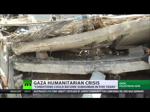 'Gaza to be unlivable by 2020'  No clean water, proper food, electricity