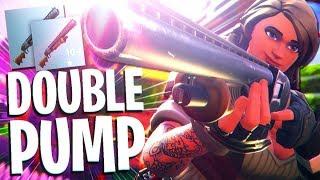Double Pump Shotgun is OP! | 20 KILL SOLO vs SQUAD WIN (Fortnite Battle Royale)
