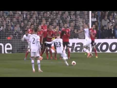 Christian Eriksen Fanstastic Free Kick Goal ~ Tottenham Hotspu vs Benfica 1-2 ~ 13-03-2014