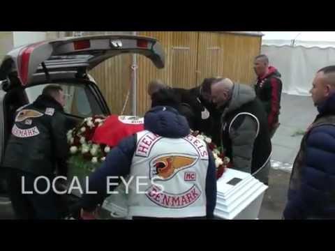 Stor Hells Angels begravelse i København