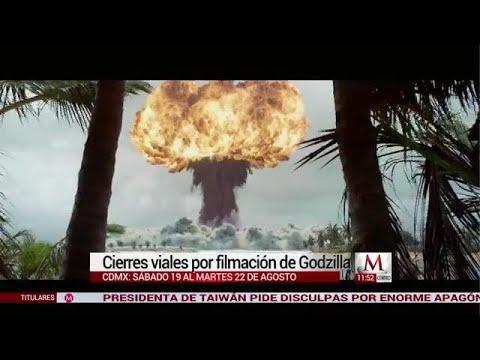 Cierres viales por filmación de Godzilla en CdMx