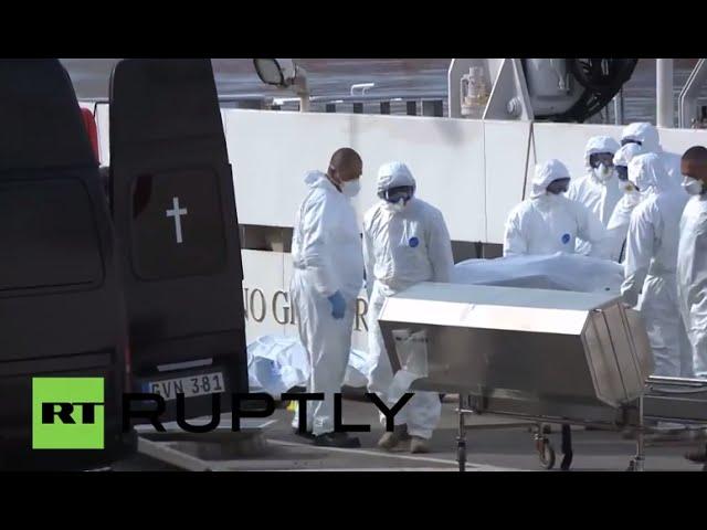 Malta: Rescued Mediterranean migrants, bodies arrive in Valletta