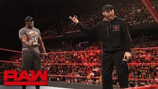 "Sami Zayn ""apologizes"" for insulting Bobby Lashley: Raw, May 28, 2018"