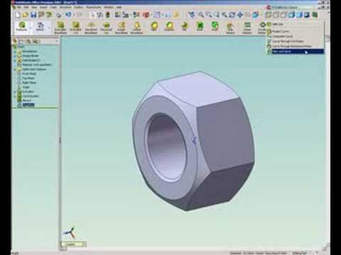 Re: SolidWorks Tutorial, How to Draw a Nut
