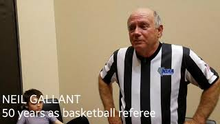 Neil Gallant celebrates 50 years as basketball referee.