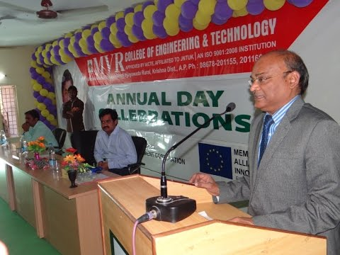 Vice Chancellor Speech In MVR College 8th Annual Day.