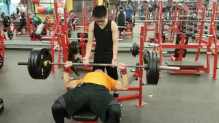 315lb (3 plate) bench attempt #1