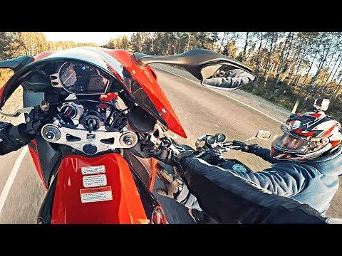 Безумный БАЙКЕР коснулся меня РУКОЙ НА СКОРОСТИ - Драйвовая мото езда на заднем колесе