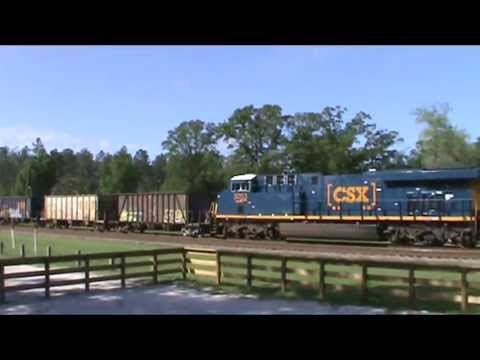 CSX Freight Trains in Folkston, GA, Feat. a Ballast Train: 4/18/13