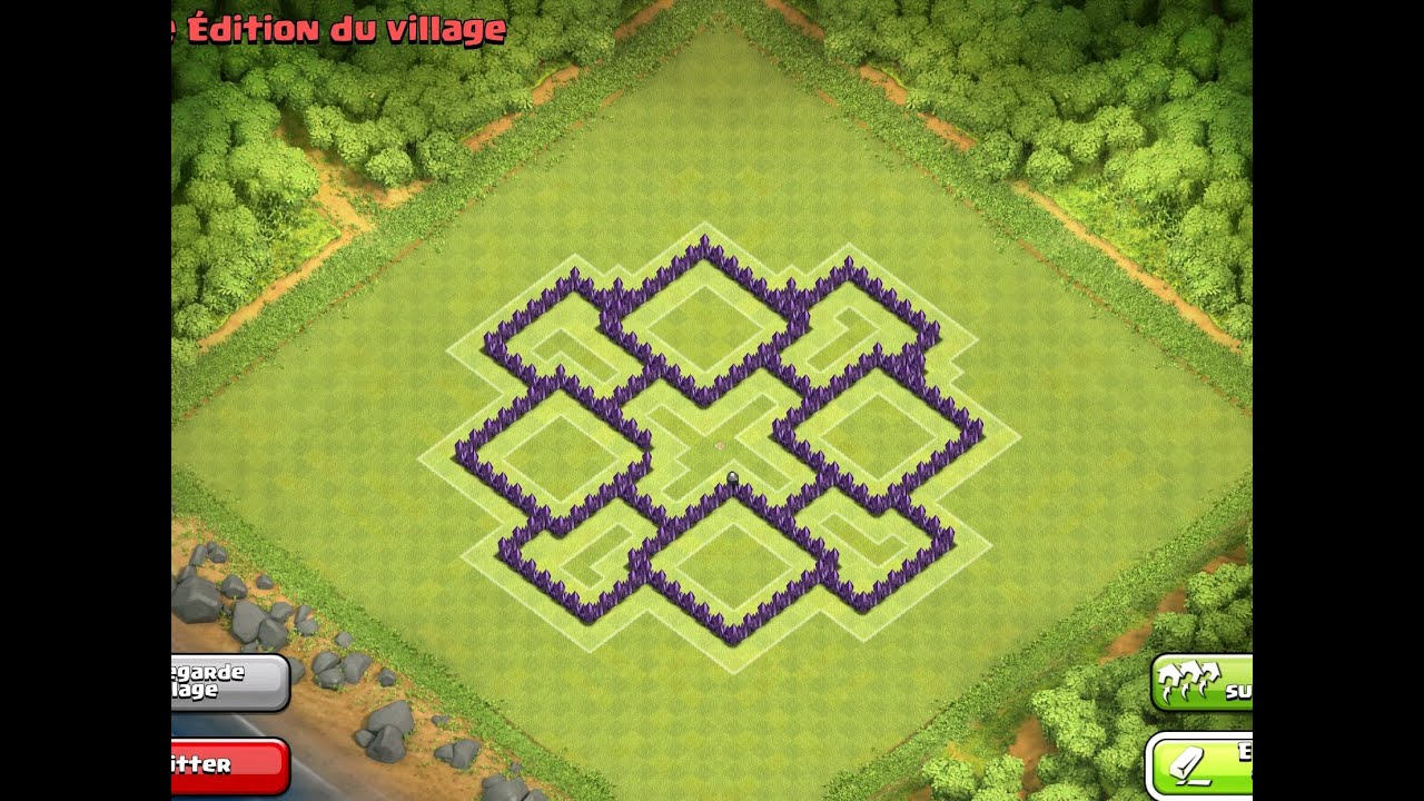 Th7 hybrid base clash of clans youtube