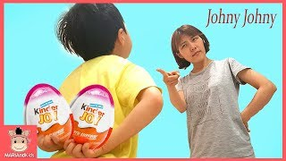 Johny Johny Yes Papa 엄마 몰래 킨더조이 초콜릿 먹다 걸린 꾸러기 미니 ♡ 조니조니예스파파 어린이 과자 인기동요 먹방 놀이 | 말이야와아이들 MariAndKids