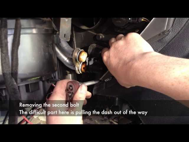 Heater Matrix Removal with dash in place - YouTube