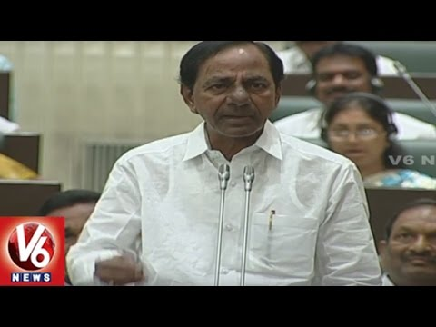 CM KCR Reacts Over Opposition Comments On Budget | Telangana Assembly Sessions | V6 News