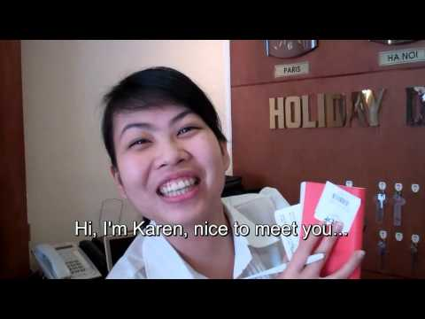 Cute Asian Girls Welcome Us to their Hotel
