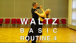 How to Dance Waltz - Basic Routine 4