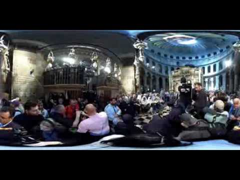 Jerusalem's Holy Fire Ceremony in 360 video