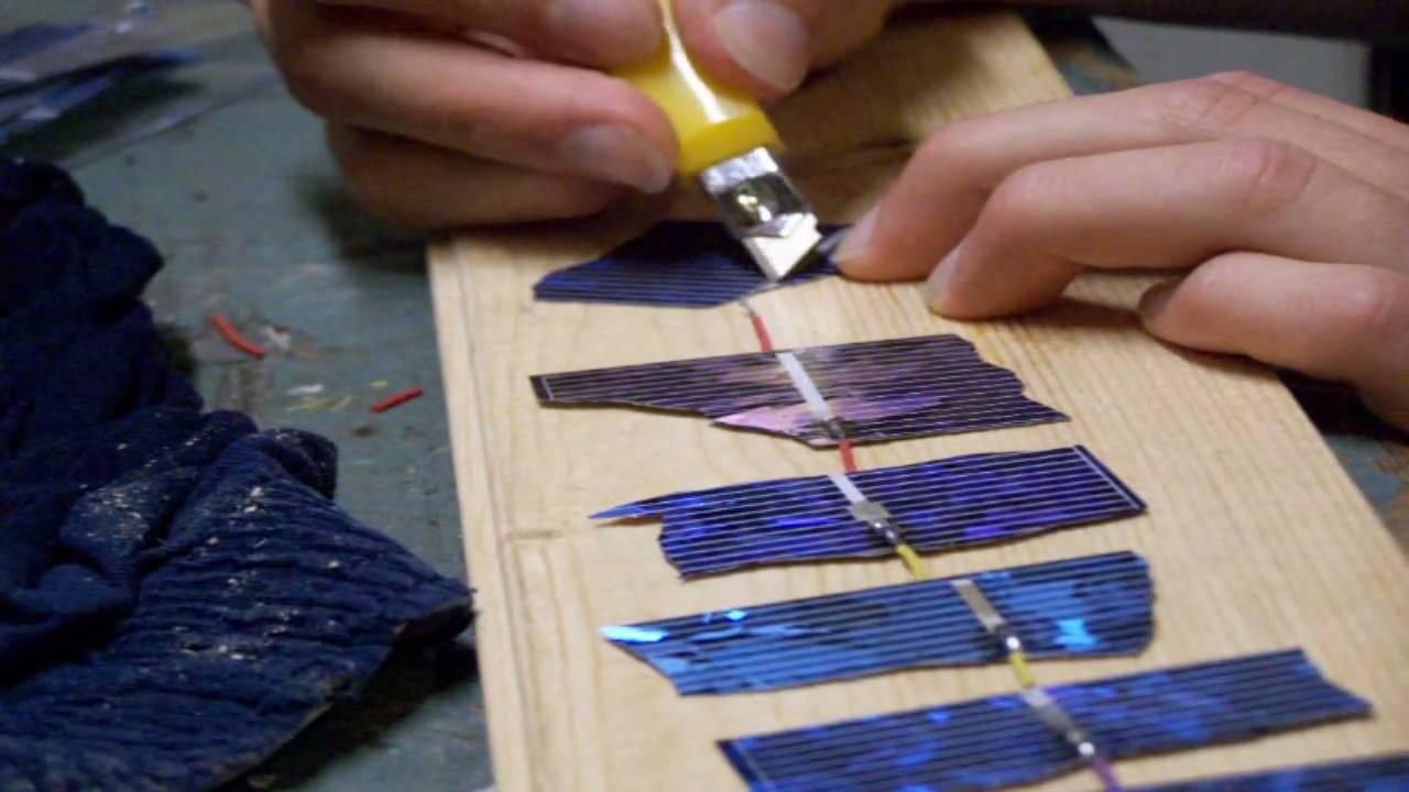 Make A Solar Panel From Broken Cells Youtube