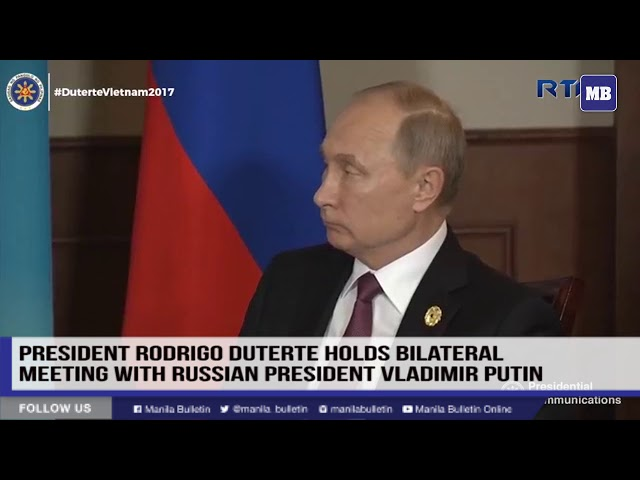 President Rodrigo Roa Duterte holds bilateral meeting with Russian President Vladimir Putin