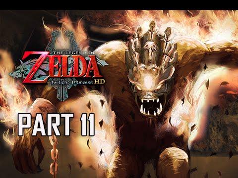The Legend of Zelda Twilight Princess HD Walkthrough Part 11 - Boss FYRUS (Hero Mode)