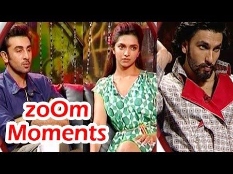 zoOm Moments : Ranbir Kapoor, Deepika Padukone, Ranveer Singh
