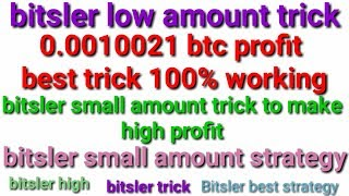 BITSLER MAGIC TRICK ! 100 - 100210 SATOSHI in 6 MINUTES ! cryptocurrency win ! bitsler !