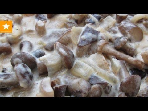 Как пожарить замороженные грибы - видео