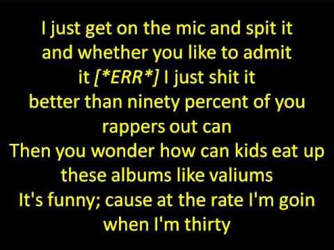 Eminem- The Real Slim Shady (lyrics) video