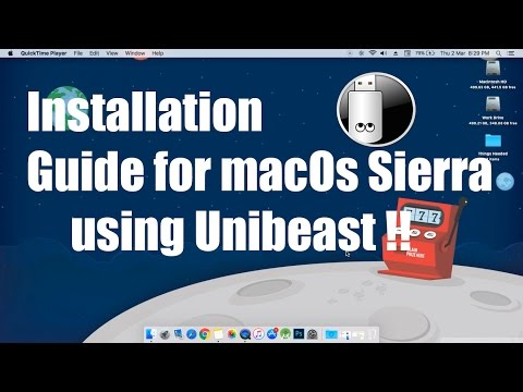How to make a bootable pen drive of macOs Sierra for installing on a PC (Hackintosh)