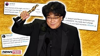 Oscars CRITICIZED For Going Dark On 'Parasite' Best Picture Win!