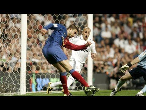 Gerard Piqué Goal Against Real Madrid  هدف جيرارد بيكيه ضد ريال مدريد