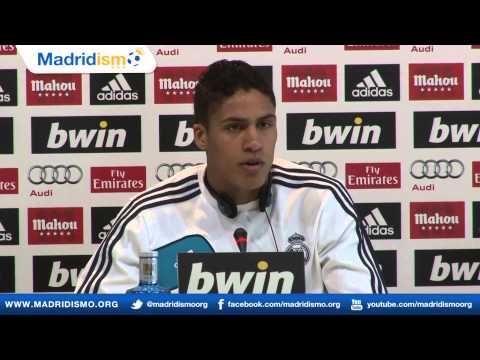 Raphaël Varane rueda de prensa, previa Real Madrid - Getafe