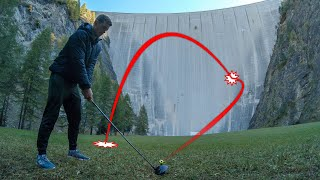 CATCHING GOLF BALLS OFF 165m DAM!