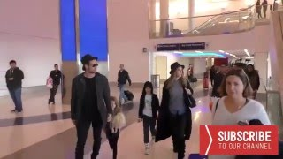 William @willylevy29 & Elizabeth @Elygutierrez19 arriving at LAX Airport in Los Angeles