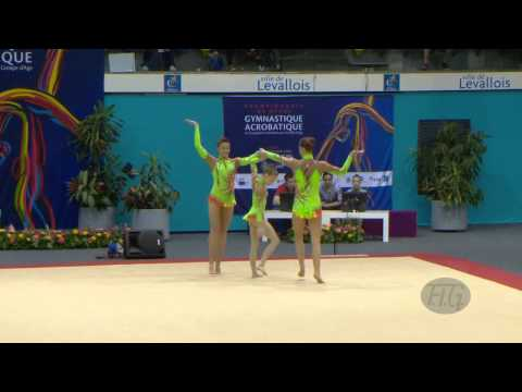 GREAT BRITAIN Women's Groups - Dynamic Qualifications  -- 2014 Acrobatic Worlds (FRA)