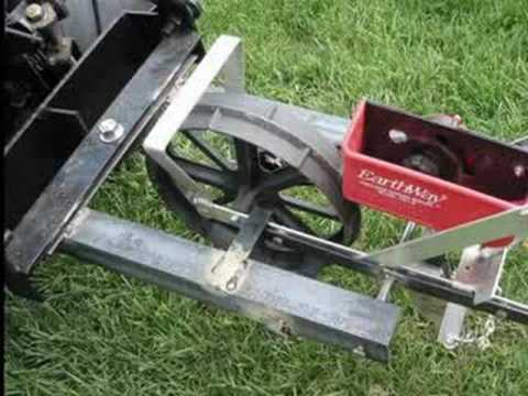 Earthway Planter Converstion For Garden Tractor Youtube