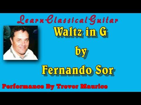 Waltz in G by Fernando Sor (www.learnclassicalguitar.com)