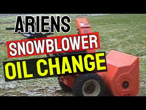 Ariens Snowblower Oil Change