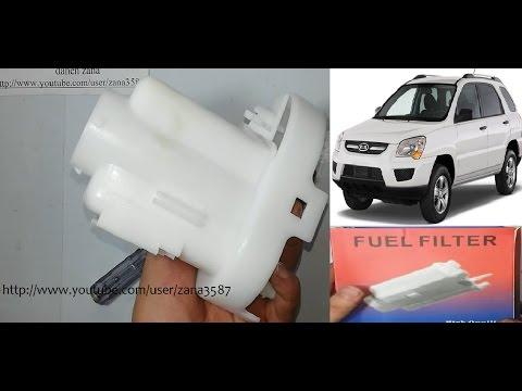 Change fuel filter  - Kia sportage 2010 _ 2009 _ 2008 _ 2007 _ 2006 (video 29)