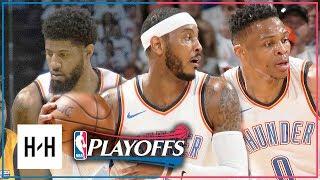 OKC Thunder BIG 3 Full Game 2 Highlights vs Jazz 2018 Playoffs - Westbrook, Paul George & Carmelo