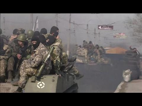 Russian-Flagged Trucks Enter Slovyansk in Ukraine