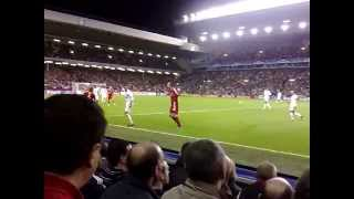 Liverpool 8 - 0 Besiktas (Crouch Goal from the Paddock)