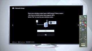How To Connect To a Wireless Network using a Sony BRAVIA® LCD TV With Built In Wi-Fi