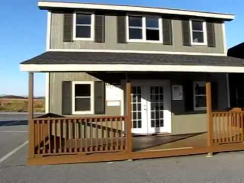 Tiny house cheap off grid two story cheap youtube for Two story shed house