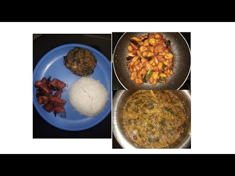 #DIML AFTERNOON LUNCH ROUTINE #ALU FRY # GONGURA PAPPU (SMALL VLOG)