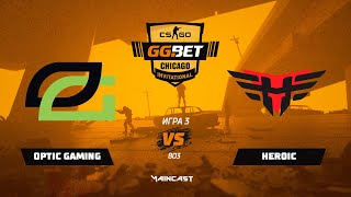 OpTic Gaming vs Heroic [Map 3, Mirage] (Best of 3) | GG.Bet Chicago Invitational