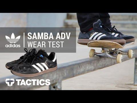Adidas Samba ADV Skate Shoes Wear Test Review - Tactics.com
