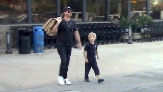 Robin Thicke Hits The Grocery Store With Adorable Son Julian