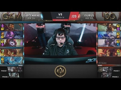 GAM (Levi Graves) VS ISG (QQmore Nidalee) Highlights - 2017 MSI Play-In D2